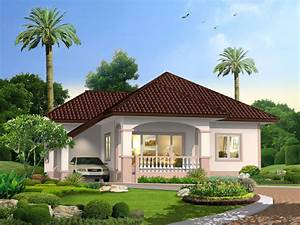 Graceful, One, Story, Traditional, Bungalow, House