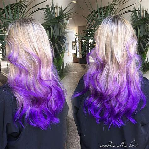 Blonde To Purple Ombre Pravana Hair Dye Hair Colors Ideas