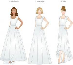 Different Types of Skirt Length Wedding Dress