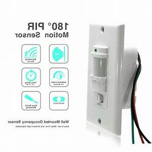Auto On  Off Infrared Pir Occupancy Vacancy Motion Sensor