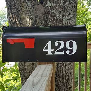 antiqua traditional style mailbox numbers With mailbox letters numbers