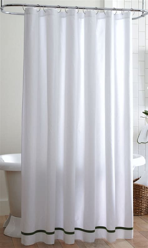 peacock alley pique tailored shower curtain