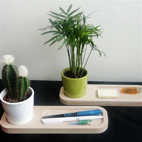 plante de bureau plateau bois avec plante au bureau objet publicitaire nature