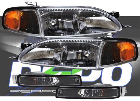 95 96 camry black headlights corner bumper lights ebay