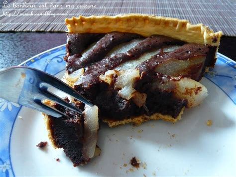 tarte poire chocolat pate feuilletee