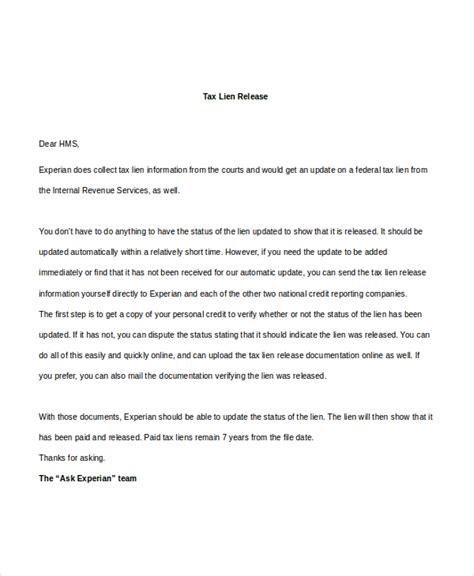 lien release letter sle release of lien form 9 free documents in pdf doc