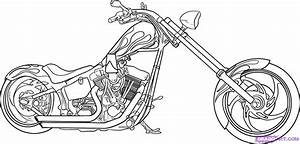 How to Draw a Motorcycle, Step by Step, Motorcycles ...