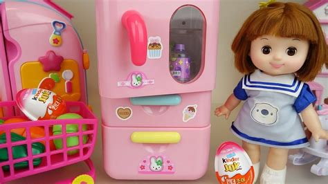 Baby Doli And Pink Refrigerator Mart Toys Baby Doll Play