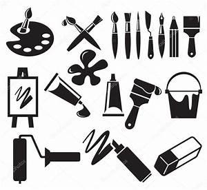 Art Icons set — Stock Vector © bioraven #10615110