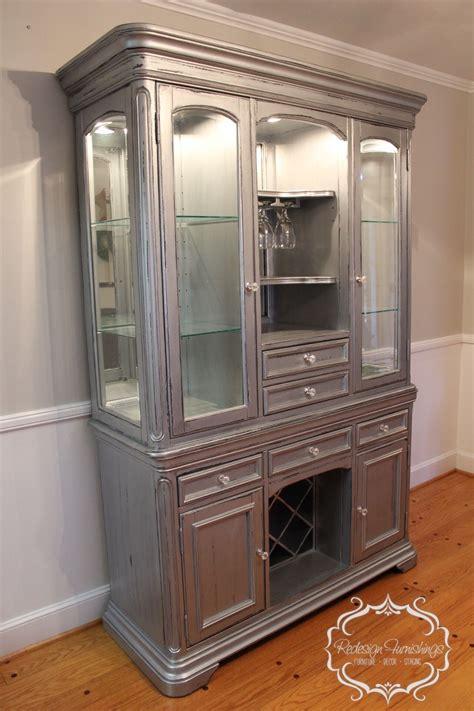 Silver China Cabinet by Silver China Cabinet Bar Wine Cabinet Distressed Rustic