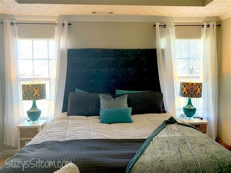 How To Make A Cloth Headboard by How To Make A Fabric Headboard On A Budget Kenarry