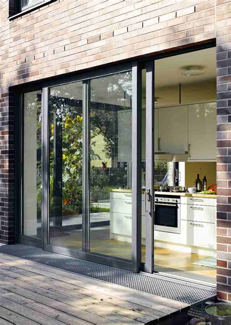 sliding patio doors open living