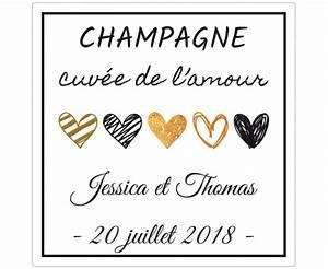 Etiquette Champagne Mariage : tiquettes adh sives personnalis es champagne mariage labelpix ~ Teatrodelosmanantiales.com Idées de Décoration