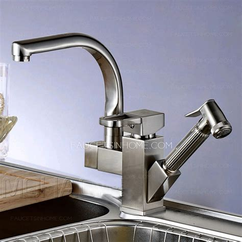 high end copper rotatable kitchen faucet with pullout