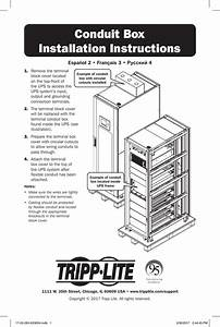 Tripp Lite Conduit Box Installation Instructions