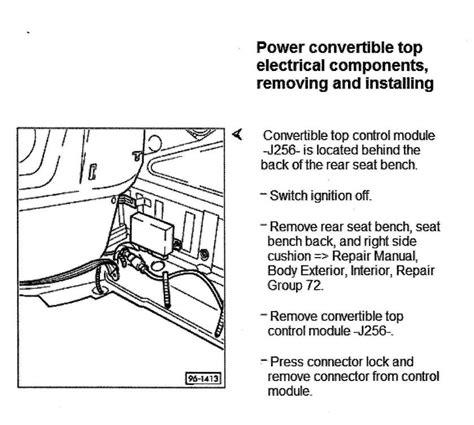 convertible top unit location audiforums