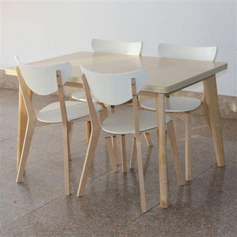 ikea style birch dinette table chair dining table and four