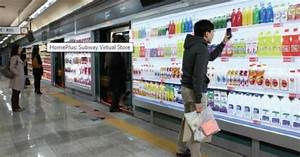 South Korean supermarket chain opens virtual grocery ...