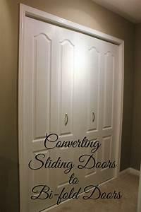 turtles and tails converting sliding doors to bi fold doors With changing closet doors