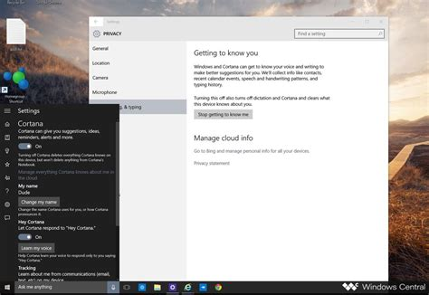 how to turn cortana and stop personal data gathering
