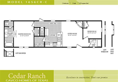 100 2 bedroom 2 bath single wide mobile cavco homes floor plan bedroom bath single wide kaf mobile homes 51237