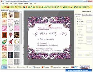 wedding card maker software designs printable and scanable With wedding invitations design software free download