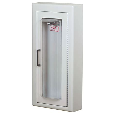 semi recessed extinguisher cabinet larsen cameo series semi recessed extinguisher