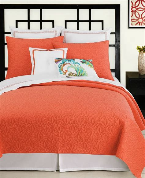 Coral Colored Bedding by Santorini Coral King Coverlet