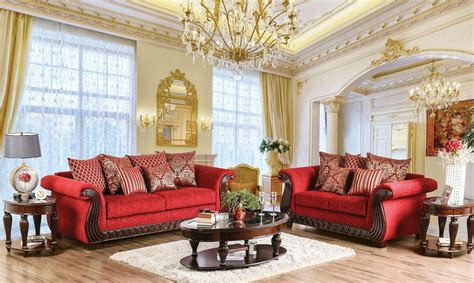 corinna ruby red living room set  furniture  america