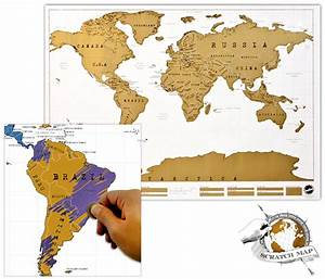 Carte Du Monde à Gratter Maison Du Monde : carte du monde gratter id e cadeau qu bec ~ Teatrodelosmanantiales.com Idées de Décoration