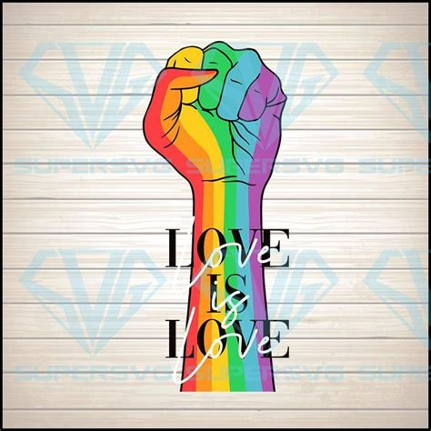 5 out of 5 stars. Love Is Love Hand Rainbow Svg Png Dxf Eps Download Files ...