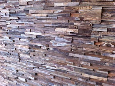 Holz Wandverkleidung Teak Grau Braun Bsholzdesign