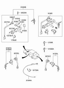 2003 Hyundai Sonata Lock Assembly
