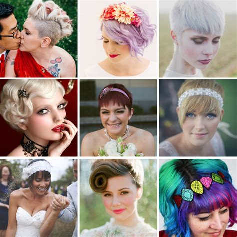 Wedding Hairstyle Ideas for Brides with Short Hair · Rock