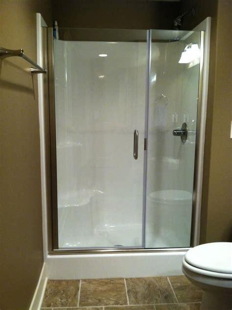 Fiberglass Shower Door by Continuous Hinge Semi Frameless 1 4 Quot Shower Door With 3 8