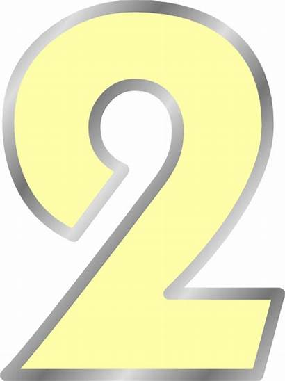 Yellow Number Transparent Clip Vector Clker Clipart