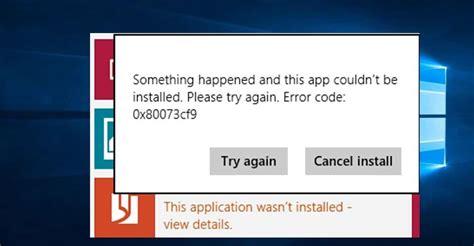 fix windows store app installation error 0x80073cf9