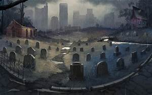 Graveyard (wallpaper) by Der-Reiko on DeviantArt