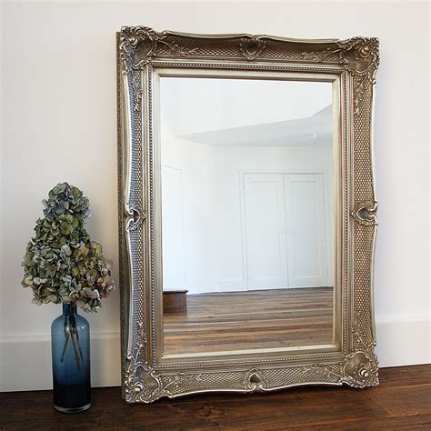 Decorative Champagne Silver Marianne Wall Mirror  Sizes