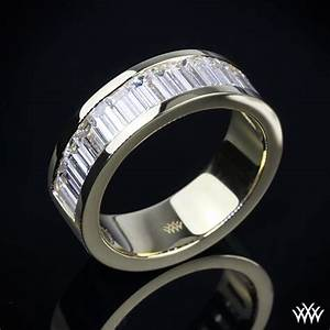 Men deserve diamonds too unique diamond wedding band for Mens wedding rings baguette diamonds