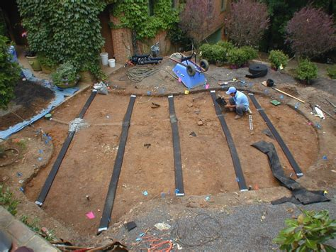lawn drainage innovative dry creek beds and drainage solutions