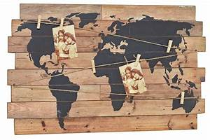 Deko Schriftzug Holz : nostalgie wandbild weltkarte deko wandobjekt holz schild weltatlas m klammern ~ Eleganceandgraceweddings.com Haus und Dekorationen