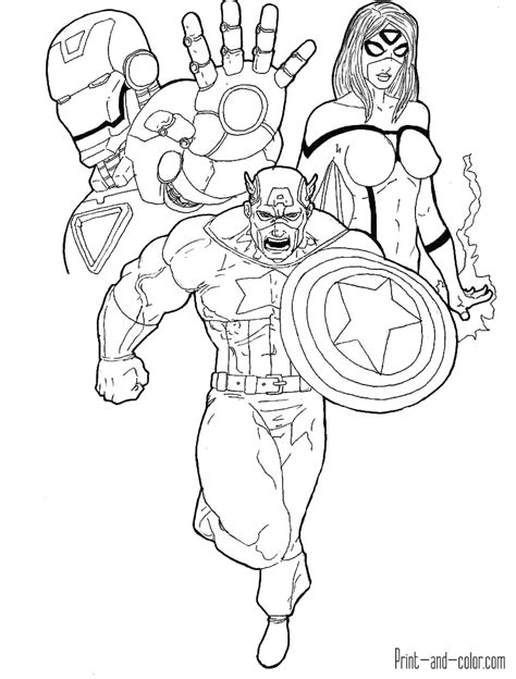 avengers coloring pages online avengers coloring pages print and color com