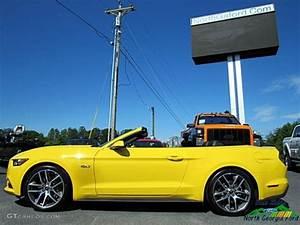 2017 Triple Yellow Ford Mustang GT Premium Convertible #121245784 Photo #2 | GTCarLot.com - Car ...