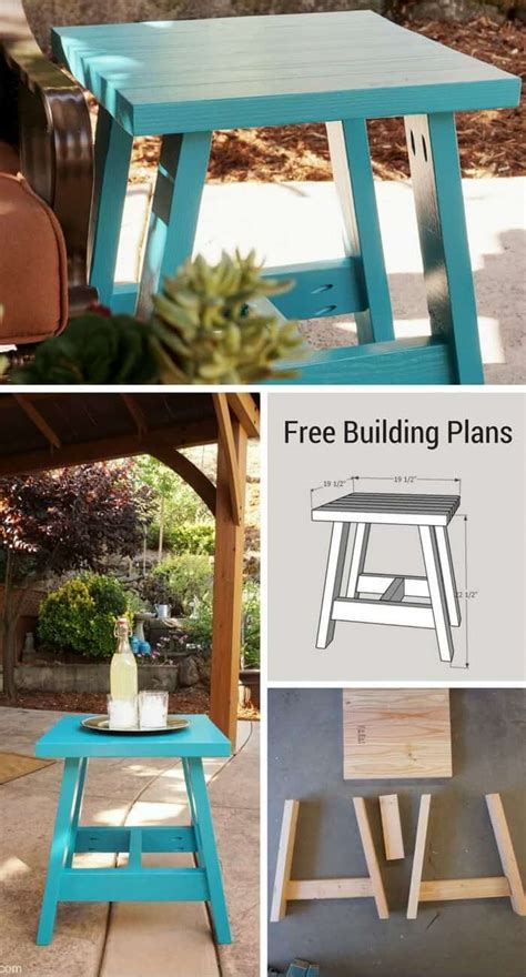 build   outdoor table    plans small home soul