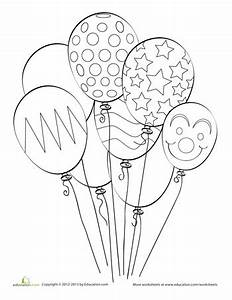 balloon coloring pages - balloon coloring page worksheets coloring books and