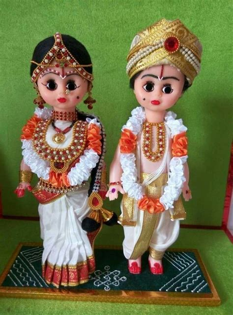 andhra wedding couple dolls dolls  indian dress