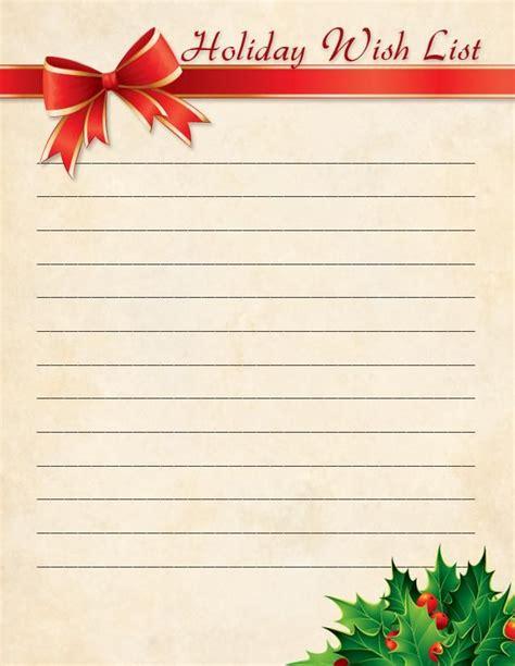 printable holiday  lists holiday  list