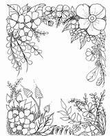 Flowers Coloring Adult Flower Mandala Floral Pattern Corner Colouring Blume Sheets Bloem Doodle Mykinglist Imprimir Printable Drawing Frames Kleurplaten Dibujos sketch template