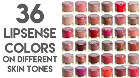 36 Closeup Lipsense Colors On Different Skin Tones And